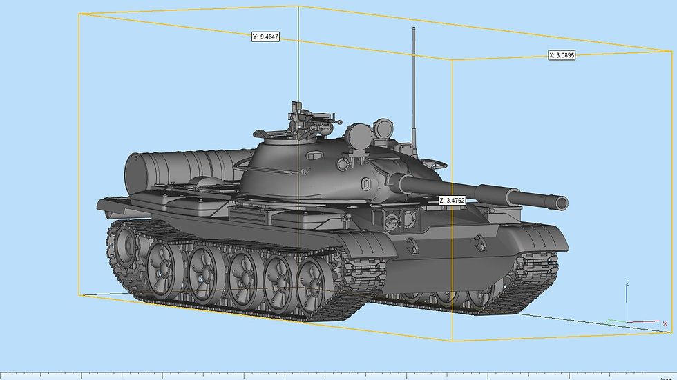T-62 Tank Highly Detailed