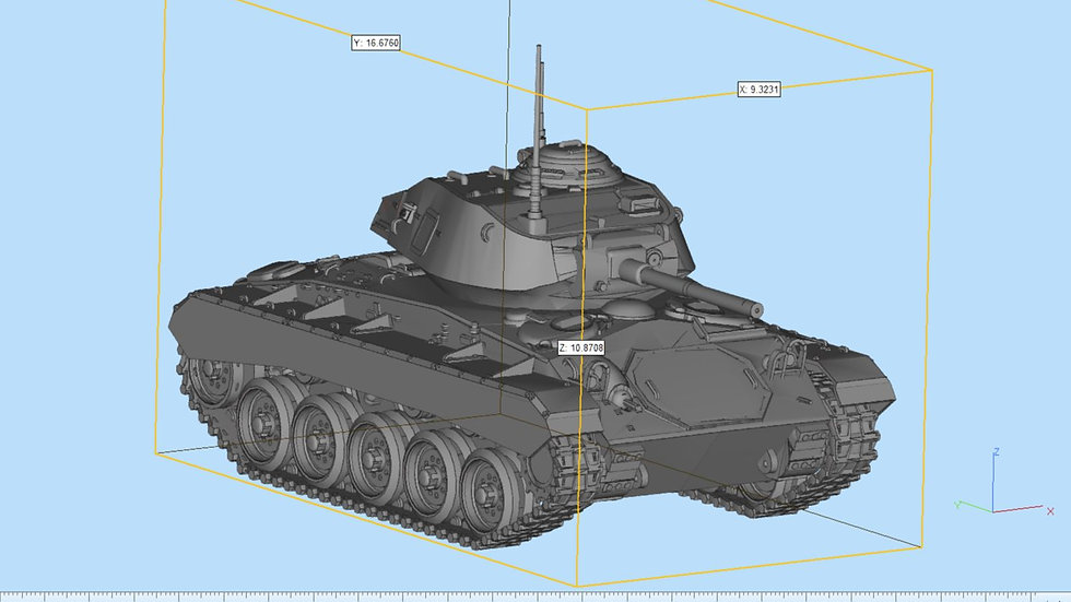 M24 Chaffee Highly Detailed