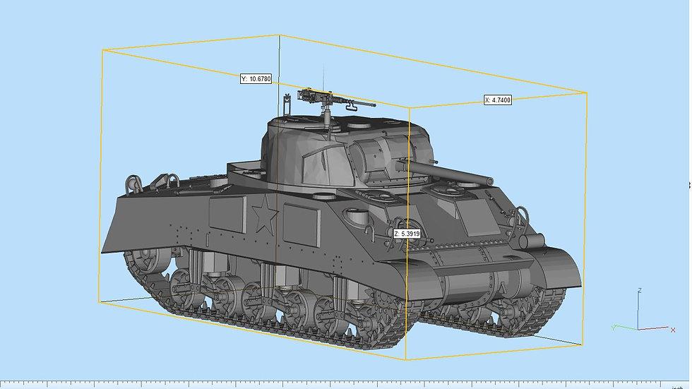 Sherman Tank Highly Detailed