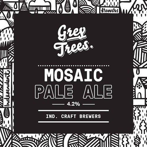 GREY TREES - MOSIAC PALE ALE (500ml) 4.2% abv