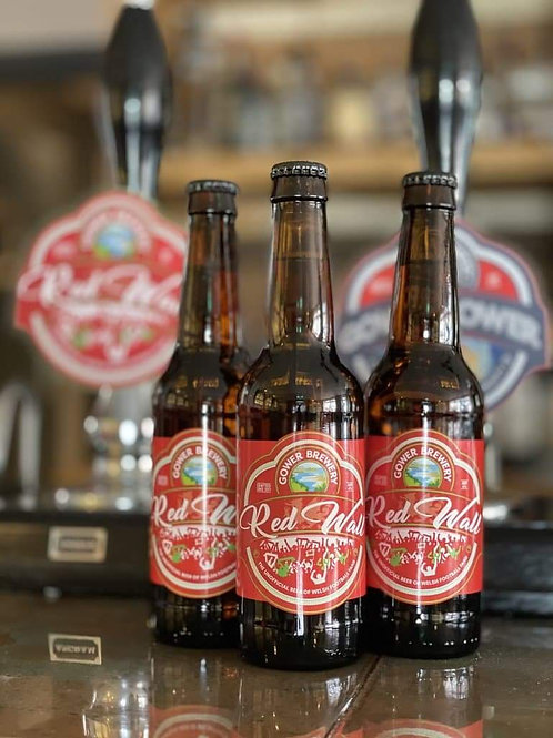 12 x GOWER - RED WALL LAGER (330ml) 4%abv