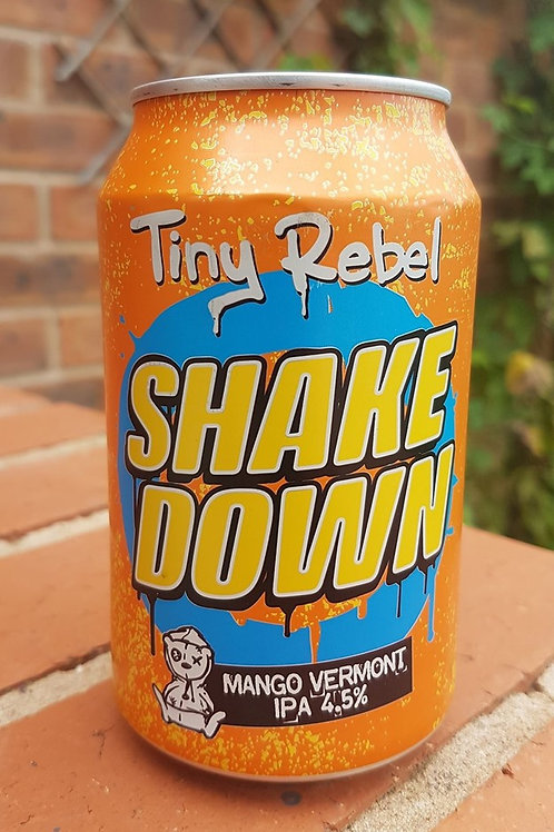 TINY REBEL - SHAKEDOWN MANGO VERMONT IPA (330ml) 4.5%abv