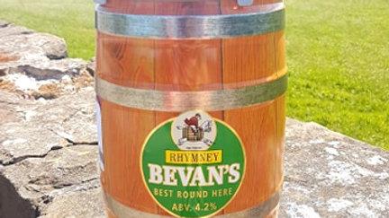 RHYMNEY - BEVAN'S BITTER 4.2% abv 9 pint mini keg