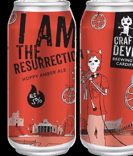 CRAFTY DEVIL  - I AM THE RESURRECTION HOPPY AMBER (440ml) 5% abv