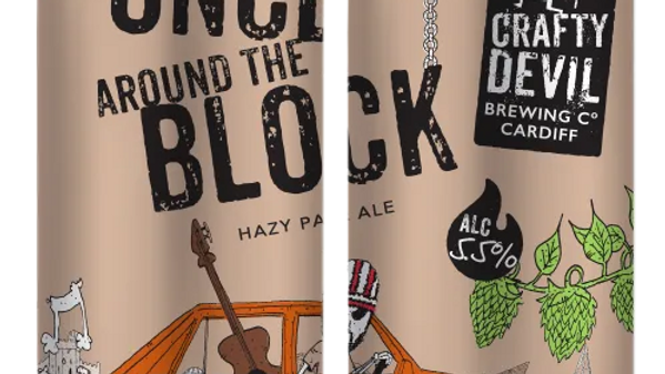 CRAFTY DEVIL  - ONCE AROUND THE BLOCK (440ml) 5.5%abv (Gold member £3.72)
