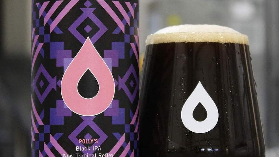POLLY'S - NEW TROPICAL REFLEX- BLACK IPA (440ml) 7.2%abv