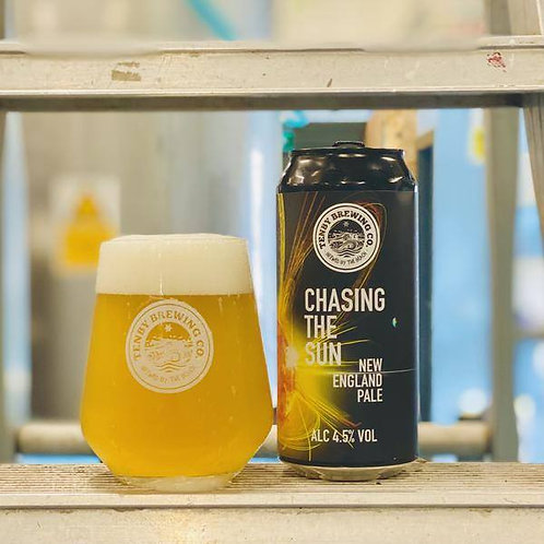 TENBY - CHASING THE SUN NEW ENGLAND PALE  (440ml)  4.5%abv