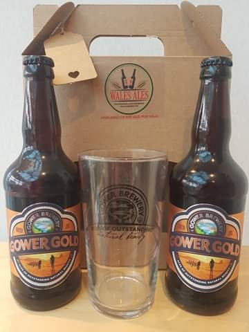 GOWER BREWERY GIFT SET (2 beers & a glass)