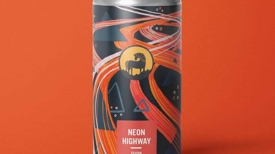WILD HORSE - NEON HIGHWAY DIPA (440ml) 8%abv