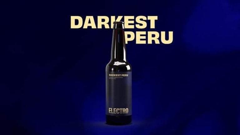 ELECTRO - DARKEST PERU COCOA & VANILLA STOUT (330ml) 5.6%  (Gold member  £2.63)