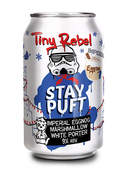 TINY REBEL  - IMPERIAL EGG NOG WHITE STAY PUFT PORTER (330ml) 9%abv