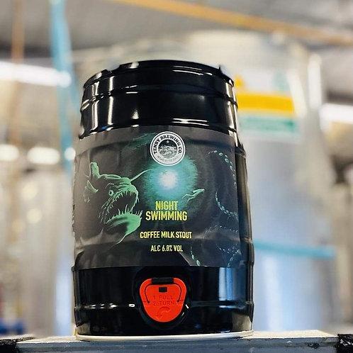 TENBY - NIGHT SWIMMING COFFEE MILK STOUT 6.8% abv 9 pint mini keg