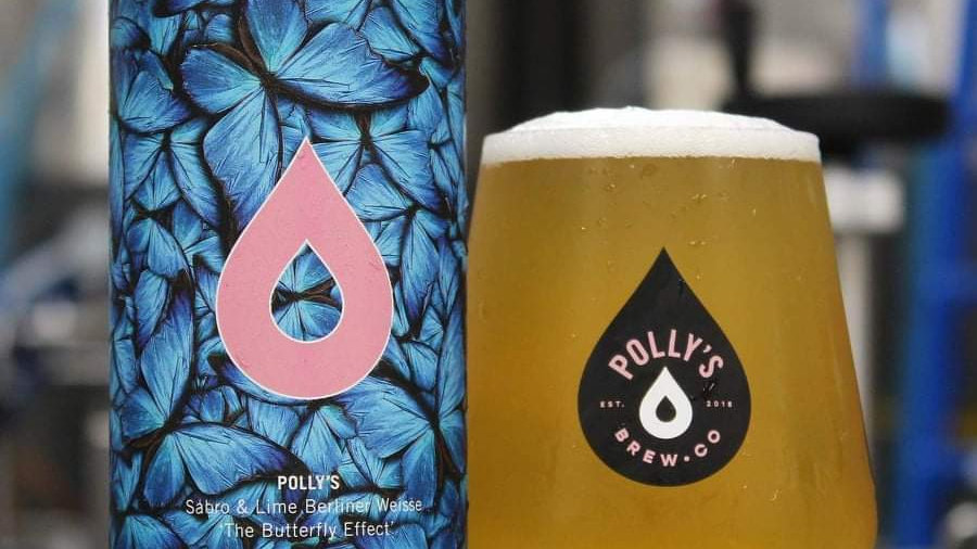 POLLY'S  - THE BUTTERFLY EFFECT - SABRO & LIME BERLINER WEISSE (440ml) 4.6%abv