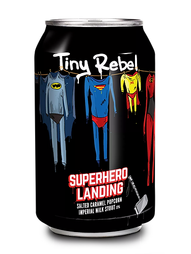 TINY REBEL  - SUPER HERO LANDING (330ml) 13%abv