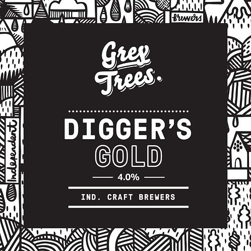 GREY TREES - DIGGERS GOLD GOLDEN ALE (500ml) 4%abv