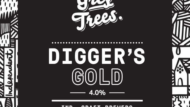 GREY TREES - DIGGER'S GOLD GOLDEN ALE (500ml) 4%abv