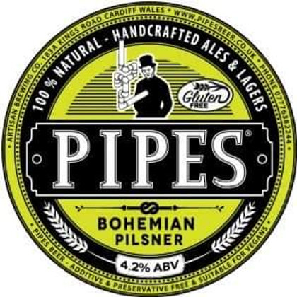 PIPES - BOHEMIAN PILS (500ml) 4.2%abv