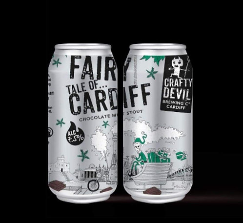 CRAFTY DEVIL  - FAIRY TALE OF CARDIFF CHOCOLATE MINT STOUT (440ml) 7.5%abv