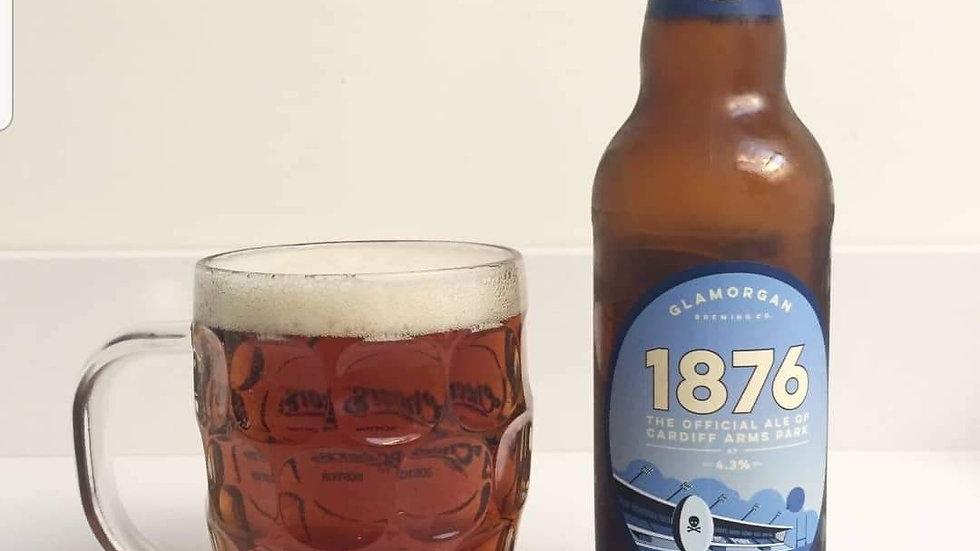 GLAMORGAN - 1876 OFFICAL CARDIFF ARMS PARK BEER (500ml) 4%abv