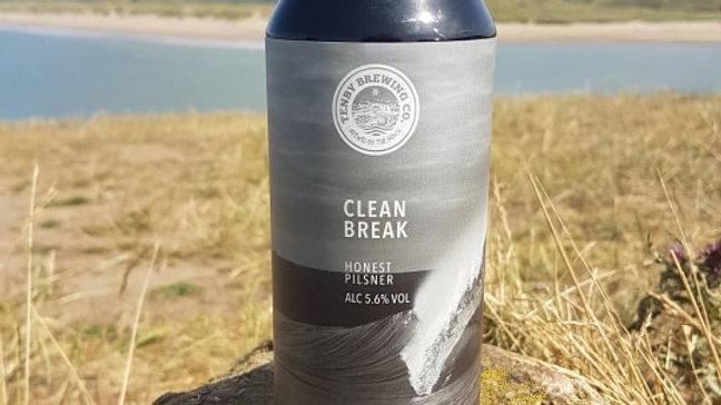 TENBY BREWERY-CLEAN BREAK (440ml) 5.6%abv