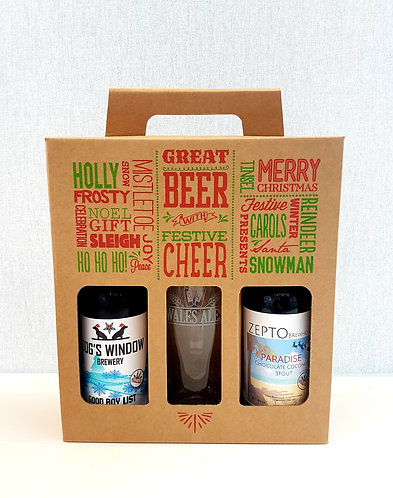 WALES ALES GIFT SET (2 BEERS & GLASS)