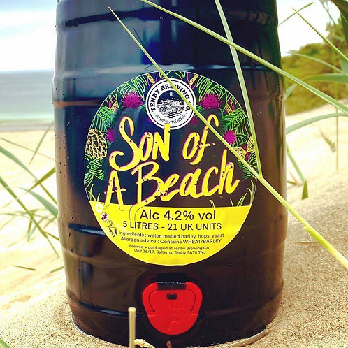 TENBY BREWERY-SON OF A BEACH 4.2%abv 9 pint mini keg
