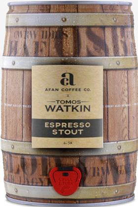 9 PINT MINI KEG - TOMOS WATKIN - ESPRESSO STOUT 4.5%abv