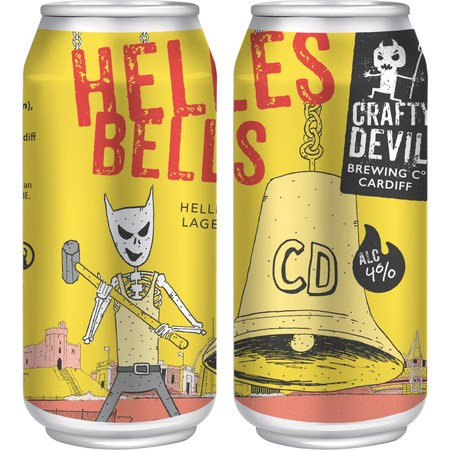 CRAFTY DEVIL - Helles Bells-Helles Lager (440ml) 4%abv