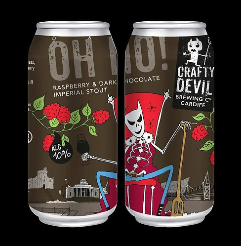 CRAFTY DEVIL  - OH NO! - Raspberry & Dark Chocolate Imperial Stout. (440ml) 10%.