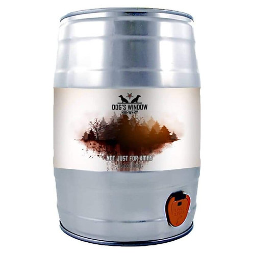 9 PINT MINI KEG- DOG'S WINDOW - SPICED BOCK (NOT JUST FOR XMAS) 5.2%abv