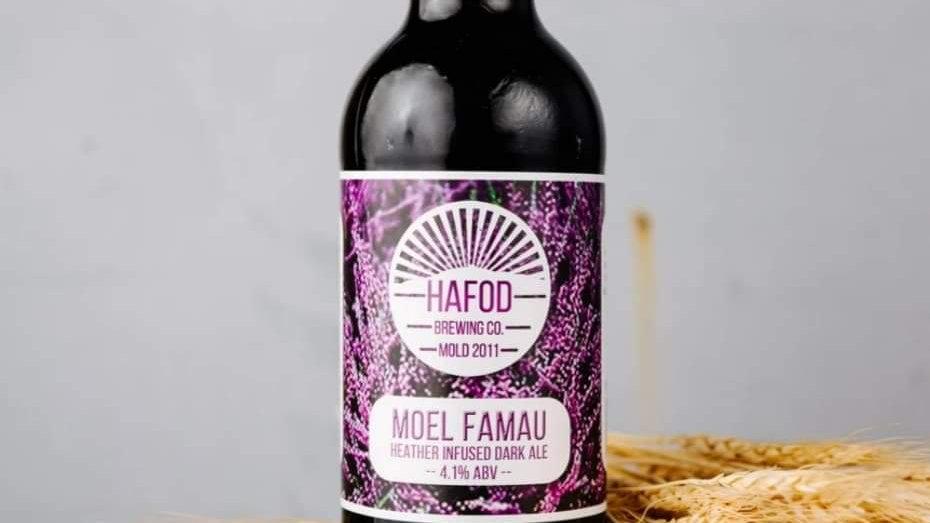 HAFOD - MOEL FAMAU HEATHER INFUSED DARK ALE (500ml) 4.1%abv (Gold member £1.01)