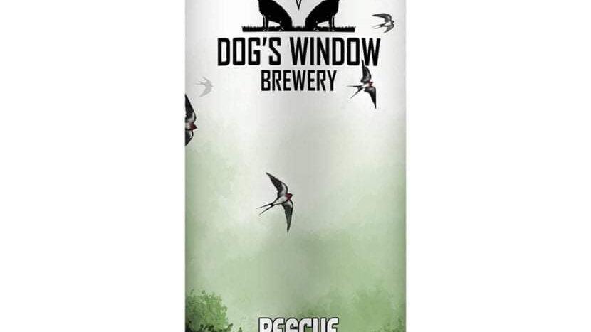 DOG'S WINDOW  - RESCUE RASPBERRY PALE  ALE (440ml)5.2%abv