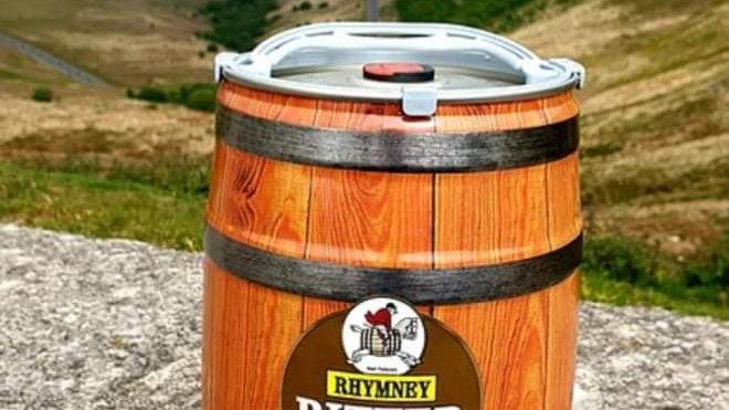 RHYMNEY  - BITTER MINI KEG 4.5%abv 9 pint mini keg