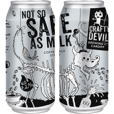 CRAFTY DEVIL - Not So Safe As Milk - Coffee Milk Stout (440ml) 7.2%abv