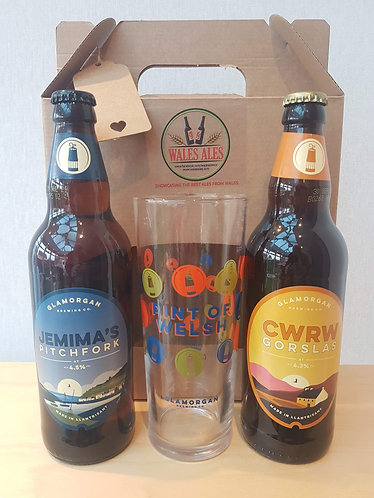 GLAMORGAN BREWERY GIFT SET (2 beers & a glass)