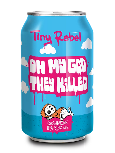 TINY REBEL  - OMG THEY KILLED CASHMERE IPA (330ml) 5.9%abv