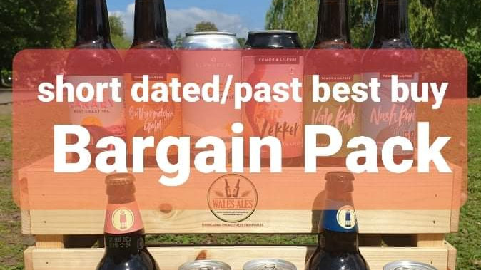 SHORT DATED/PAST BEST BY BARGAIN PACK OF 12 BEERS