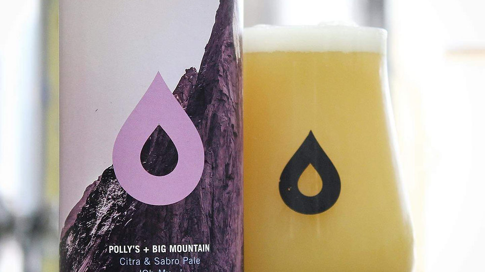POLLY'S & BIG MOUNTAIN  - OH MY...CITRA & SABRO PALE (440ml) 5.8% abv