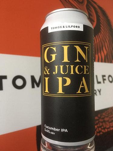 TOMOS & LILFORD - GIN & JUICE IPA (440ml) 5.4%abv
