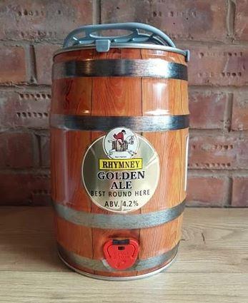 RHYMNEY - GOLDEN ALE 4.2% abv 9 PINT MINI KEG