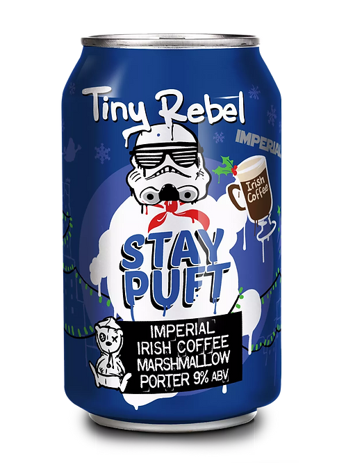 TINY REBEL  - IMPERIAL IRISH COFFEE STAY PUFT (330ml) 9% abv