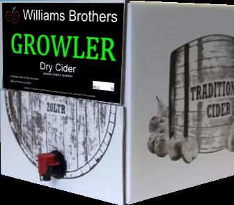 5 LITRE BOX - WILLIAMS BROS - GROWLER DRY CIDER  6.5% abv