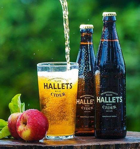 HALLETS - REAL CIDER (500ml) 6% abv