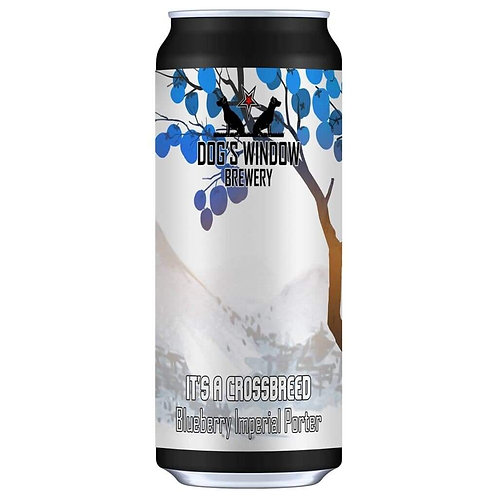 DOG'S WINDOW  - IT'S A CROSSBREED BLUEBERRY IMPERIAL  PORTER (440ml) 7.2%abv
