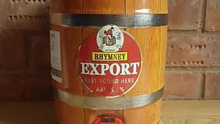 RHYMNEY - EXPORT 5.0% abv 9 PINT MINI KEG