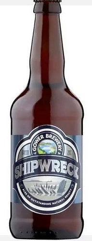 GOWER BREWERY - SHIPWRECK (500ml) 4.4% abv