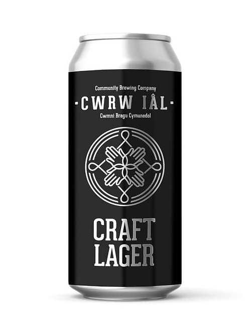CWRW IAL - CRAFT LAGER (440ml) 4.3%abv
