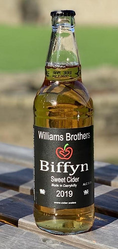 12 x WILLIAMS BROS - BIFFYN SWEET CIDER (500ml) 5.8% abv