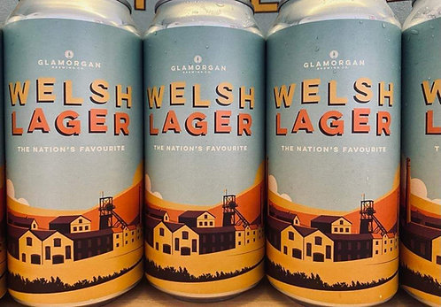 GLAMORGAN - WELSH LAGER 4.2% abv (440ml can)