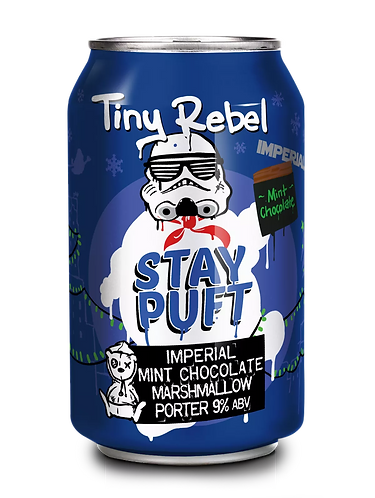 TINY REBEL - IMPERIAL MINT CHOCOLATE STAY PUFT (330ml) 9%abv